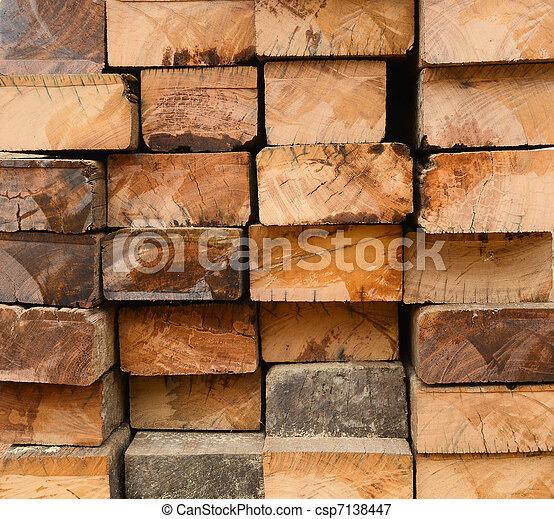 old hardwood surface - csp7138447