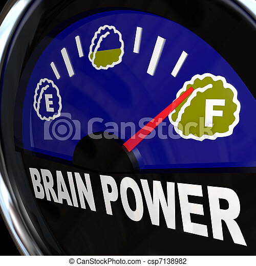 Brain Power Gauge Measures Creativity and Intelligence - csp7138982