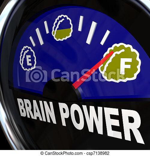 Brain Power Gauge Measures Creativity and Intelligence - csp7138982