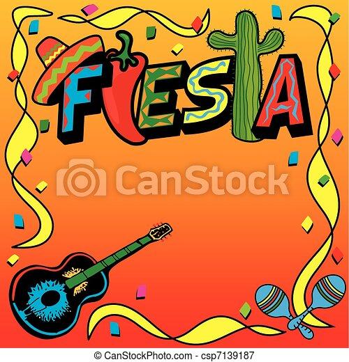 Ilustra o vetorial de mexicano fiesta partido convite for Sala de estar 3x5