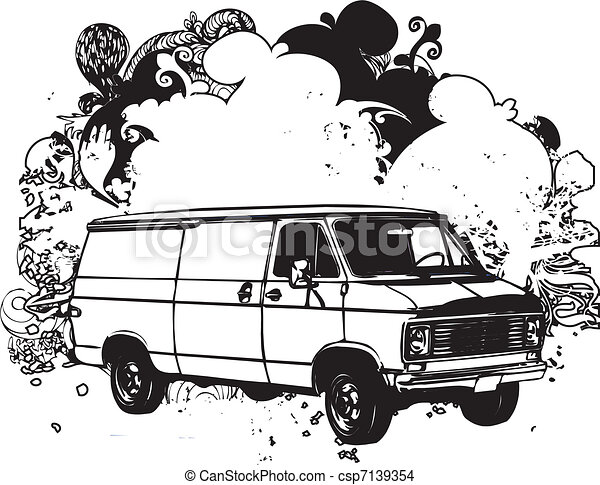 eps vector of black and white van illustration black and mobile home clipart images mobile home clipart images