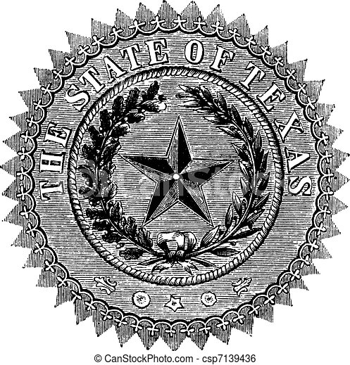 State of Texas Vector Logo Seal of The State of Texas