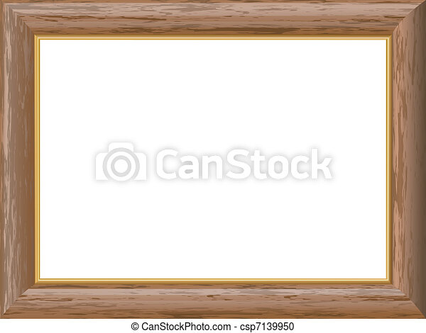 Frame Wood Vector Vector Wooden Frame With a