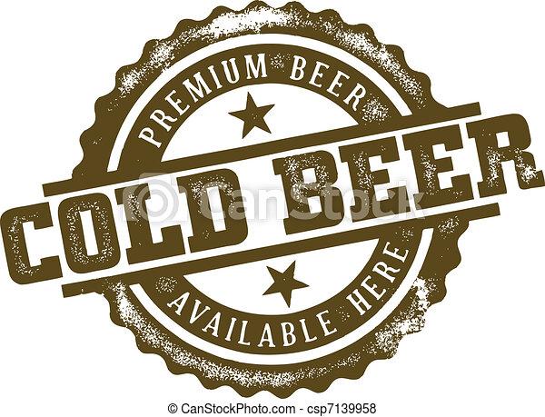 Cold Beer Stamp - csp7139958
