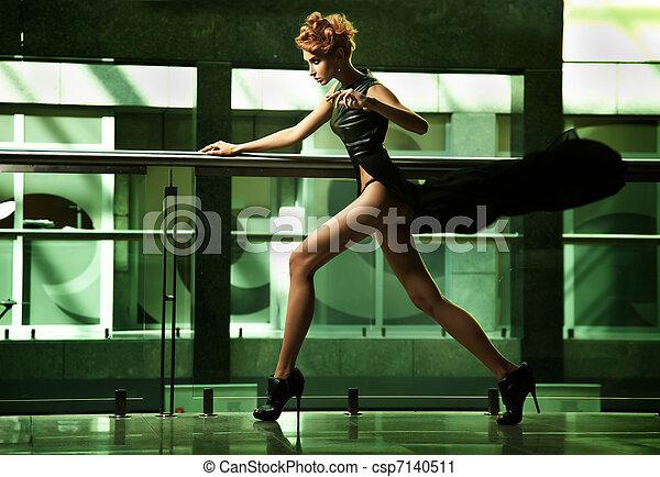 Amazing woman running - csp7140511