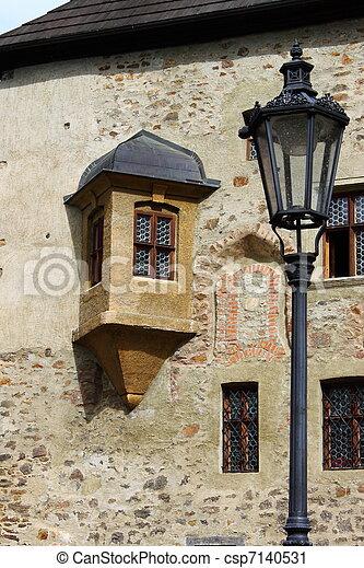 Medieval scenics in Loket castle - csp7140531