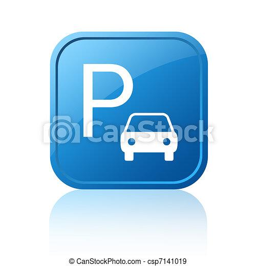 Parking sign - csp7141019