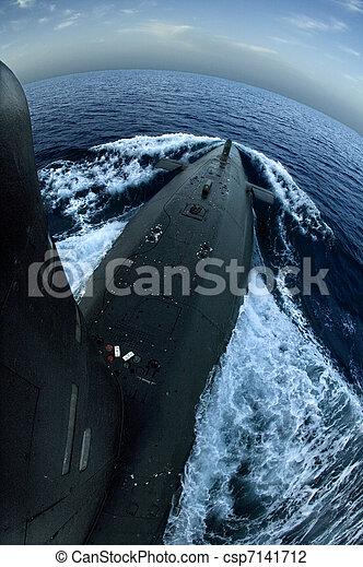 Submarine on surface - csp7141712