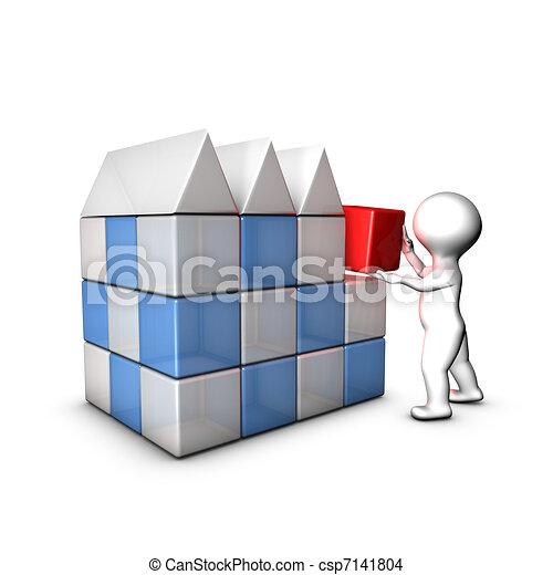 I create my company thanks to business plan, marketing plan... - csp7141804