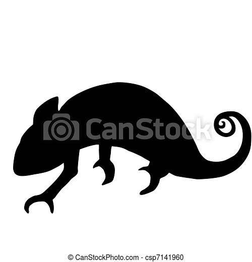Chameleon silhouette - csp7141960