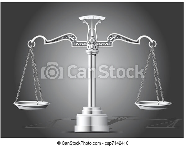 Scales of Justice - csp7142410
