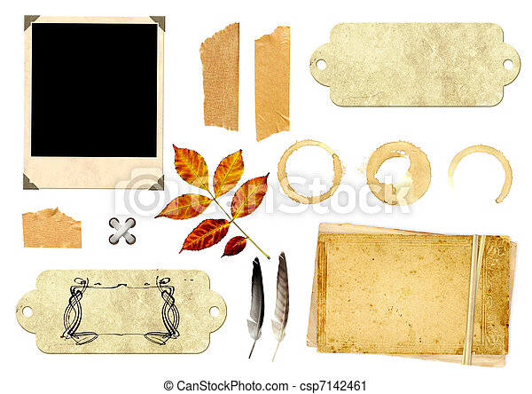 Collection elements for scrapbooking - csp7142461