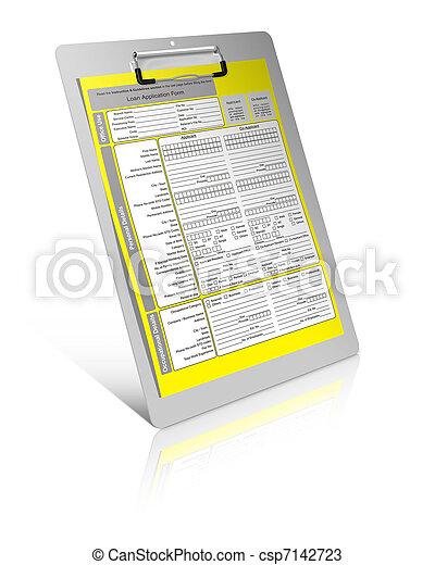 Loan form  - csp7142723