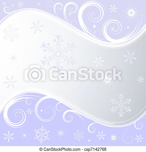 Silvery christmas frame - csp7142768