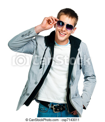 fashion man in sunglasses - csp7143011