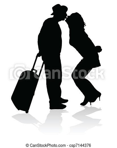 kiss for a safe trip black  - csp7144376