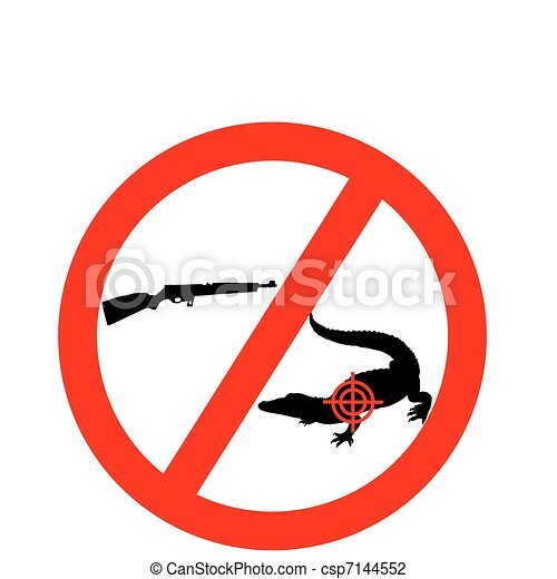 Don?t shoot crocodile - csp7144552