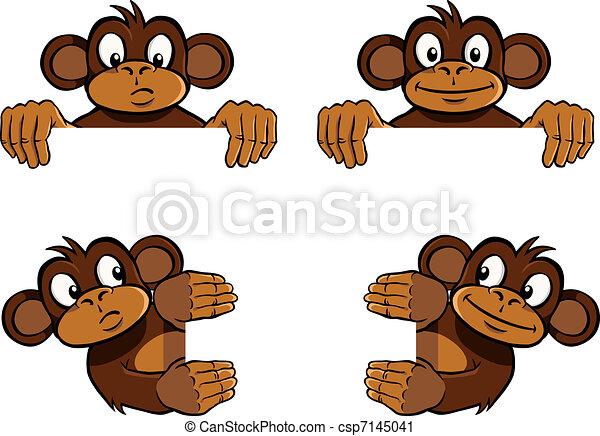 Monkey frame decoration - csp7145041
