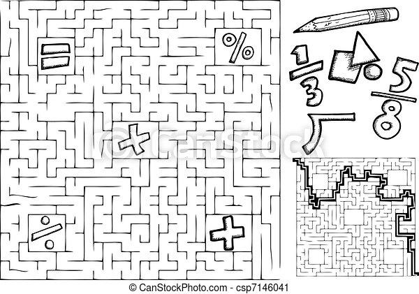 Math Maze - csp7146041