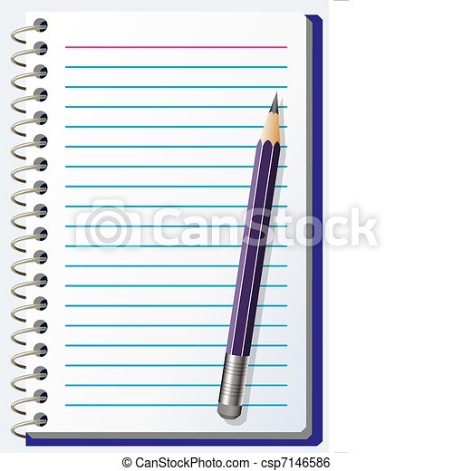 note pad with pencil - csp7146586