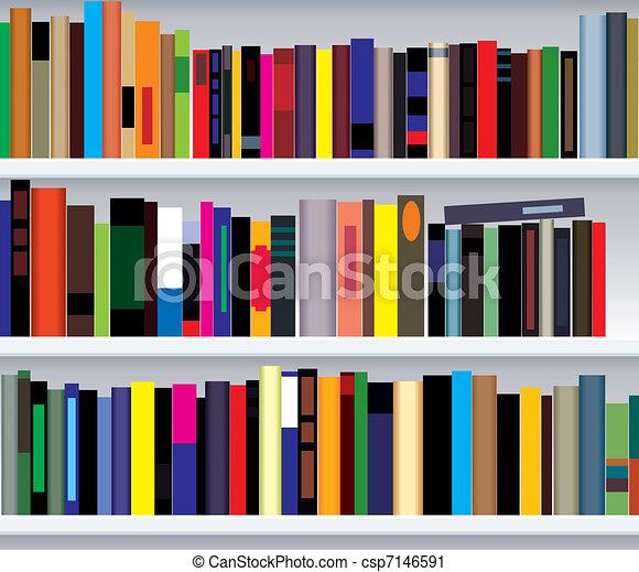 Bücherregal clipart  Vektor Clipart von bücherregal, modern - vektor, abbildung, von ...