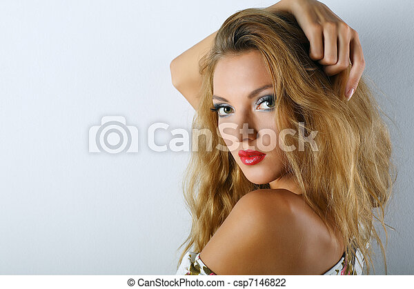 A photo of beautiful girl is in fashion style  - csp7146822