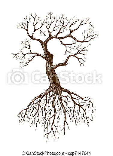 Vecteur eps de grand sans feuilles arbre illustration de grand sans csp7147644 - Dessin arbre sans feuille ...