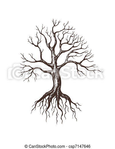 Clip art vecteur de grand sans feuilles arbre illustration de grand sans csp7147646 - Dessin arbre sans feuille ...