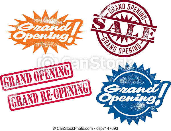 Grand Opening Stamps - csp7147693