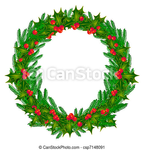 Vector Clip Art of advent wreath csp7148091 - Search Clipart ...