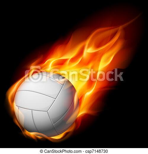 Fire volleyball - csp7148730