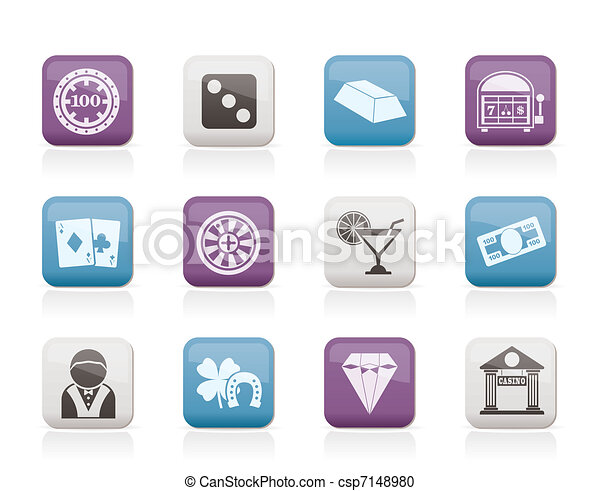 casino and gambling icons - csp7148980