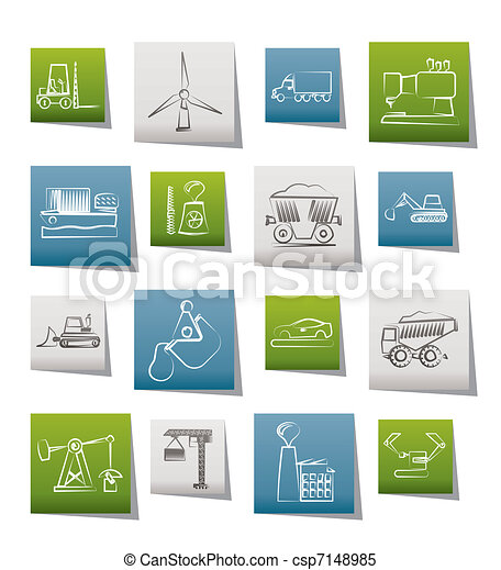 Business and industry icons  - csp7148985