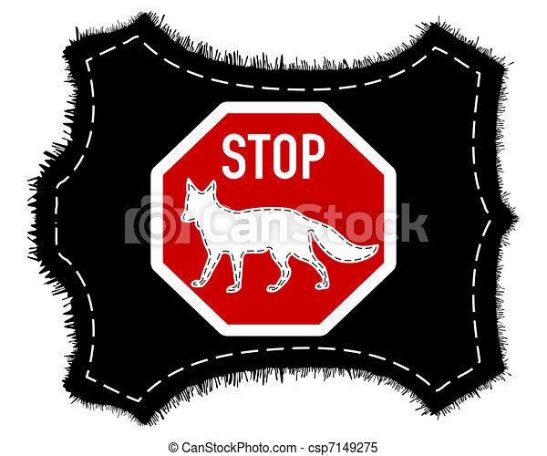 Stop fox fur - csp7149275