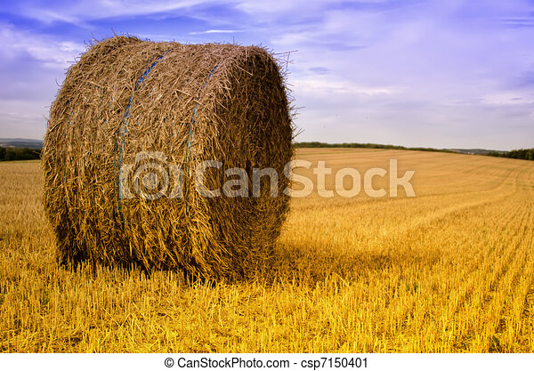Clipart of Hay bale csp7150401 - Search Clip Art, Illustration ...