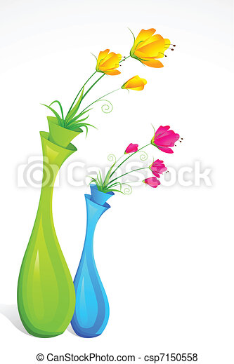 Flower vase Stock Illustrations. 5,551 Flower vase clip art images ...