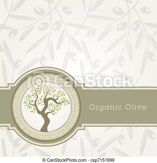 Olive oil label template  - csp7151699