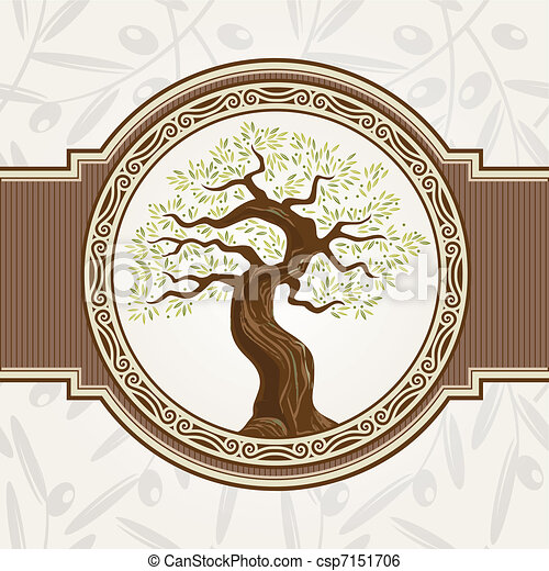 Olive tree vector - csp7151706