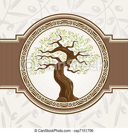 Olive tree vector - csp7151706