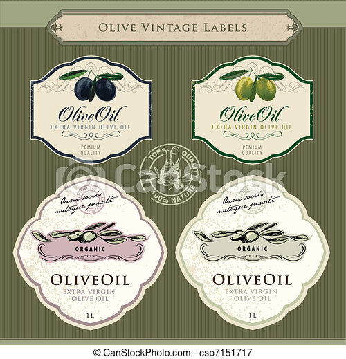 Set of olive oil labels - csp7151717
