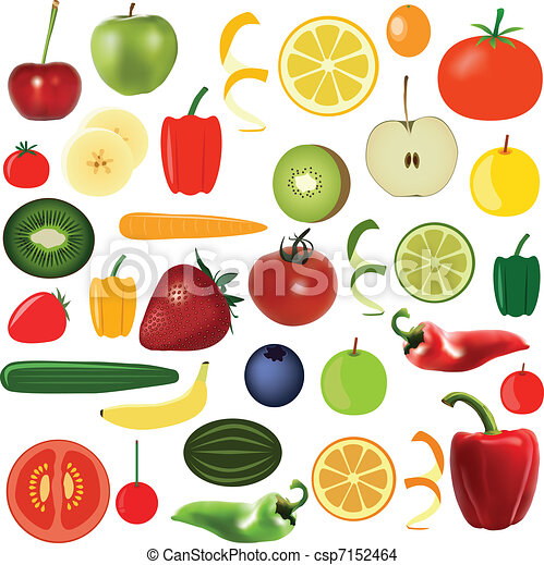 vegetables and fruits - csp7152464