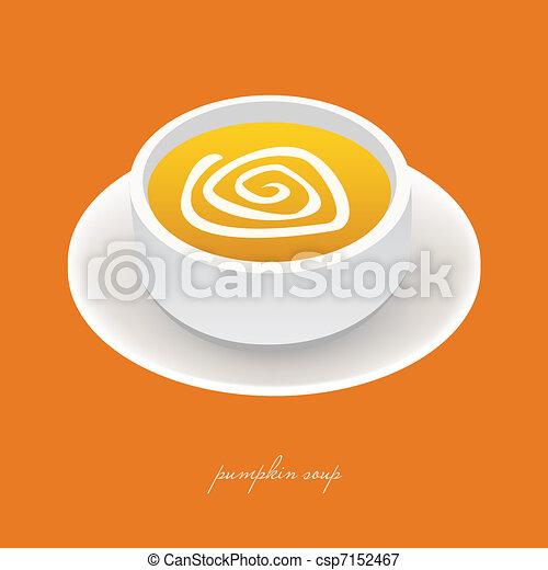 pumpkin soup - csp7152467