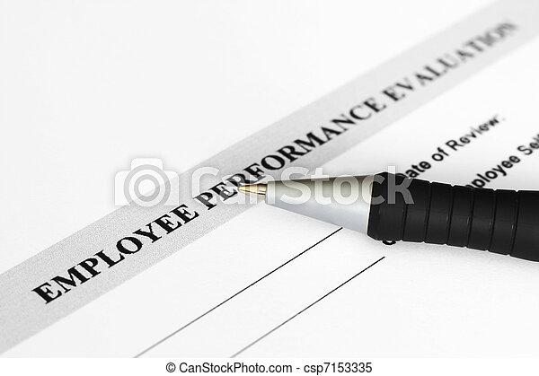 Employee performance evaluation  - csp7153335