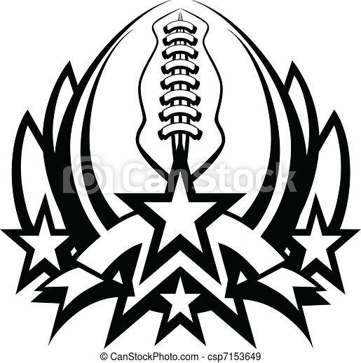 Football Vector Graphic Template wi - csp7153649