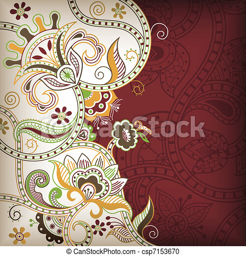 Asia Floral Background - csp7153670