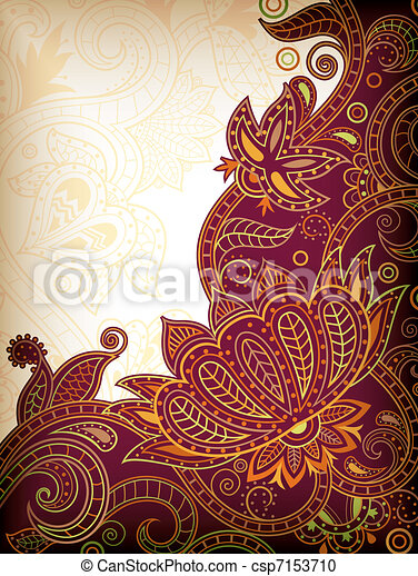 Asia Floral Background - csp7153710