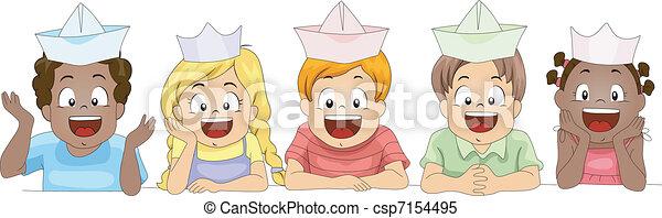 Paper Hat - csp7154495