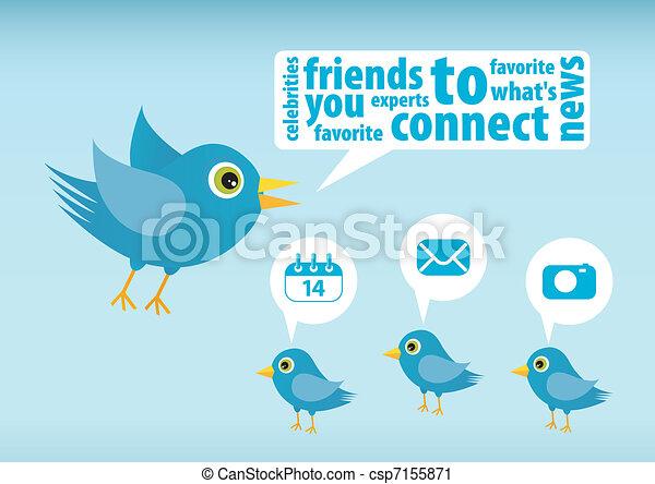 Twitter bird - csp7155871
