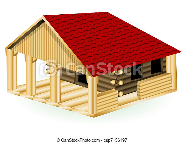 Log cabin - csp7156197