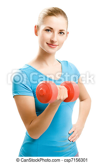 young fitness woman - csp7156301